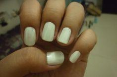 Crisp White Nails :P