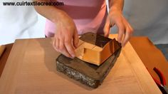 Fabrication d'une petite boite en cuir - video 2 - www.cuirtextilecrea.com
