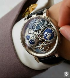 Bovet doing some amazing work with this Recital 18 GMT Tourbillon. Cute Watches, Elegant Watches, Vintage Watches, Unique Watches, Skeleton Watches, Expensive Watches, Luxury Watches For Men, Tag Heuer, Rolex Watches