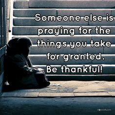 Be #thankful. #Bless others.