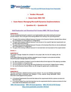 MB5-705 Exam Dumps with PDF and VCE Download (41-60)