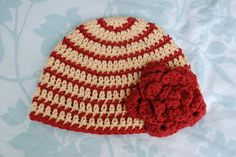 Alli Crafts:Thick and Thin Striped Beanie - free crochet patttern (multiple sizes)