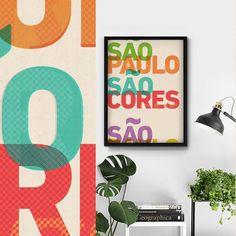 Um lançamento em pleno domingo só pra dizer que São Paulo é feita de cores.  - O pôster 'São Cores' é uma homenagem à cidade de São Paulo suas misturas sua arte sua arquitetura e suas cores. Cidade linda não é cidade cinza.  - #nacasadajoana #abaixoasparedesvazias #decoração #meunacasadajoana #sãopaulo #cidadecinza #culturanãoseapaga #menoscinzamaisarte #sampa #pôster #posters #sp #pinterest #maiscorporfavor #arcosdojanio