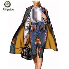 African suits for women AFRIPRIDE pure cotton true wax fabric ankara print dashiki bazin riche wax batik African Dresses For Women, African Print Fashion, African Fashion Dresses, African Attire, African Wear, African Suits, African Clothes, African Style, Latest Ankara Dresses