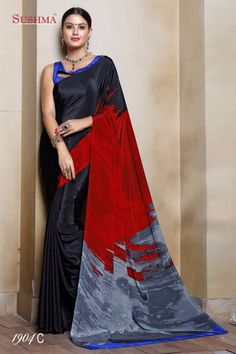 NEW DESIGNER SARI INDIAN SAREE ETHNIC BOLLYWOOD PAKISTANI WEDDING PARTY WEAR #Unbranded #SareeSari #CasualPartyWearSaree
