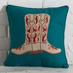 Cowgirl Sunrise Boot Pillow