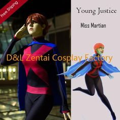 free shipping, $51.25/piece:buy wholesale  dhl halloween costume,young justice costume,miss martian suit, black lycra spandex catsuits, superhero catsuits tv & movie costumes,lyxcra,young justice on cosplayexpert's Store from DHgate.com, get worldwide delivery and buyer protection service.