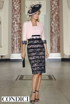 Condici Pink Peony Dress With Navy Lace Overlay And Matching Jacket - Fab Frocks Online Boutique Mother Of Bride Outfits, Mother Of Groom Dresses, Mother Of The Bride, Groom Outfit, Wedding Attire, Playing Dress Up, Dress Outfits, Marie, Beautiful Dresses