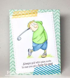 ART IMPRESSIONS STAMPS Ai People golfer