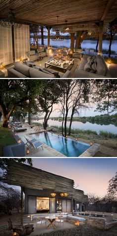 Nestled along nine miles of private Zambezi River bank in Matetsi Private Game Reserve, this classic Lodge offers true style and elegance. Game Lodge, River Lodge, Private Games, River Bank, Victoria Falls, Game Reserve, African Safari, Zimbabwe, Lodges