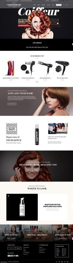 Hair Salon WordPress Theme suitable for hair salons, beauty salons and…