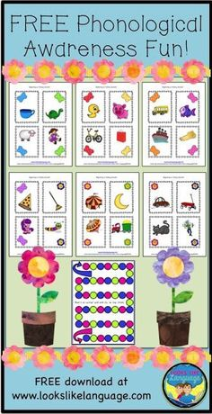 Spring Phonological Awareness Freebie - Play the open ended game or work on beginning and ending sounds! FREE!