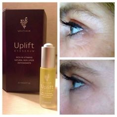 NEW Uplift Eye Serum! These results were seen after only 4 days! Potent, patent pending formulas for Fine lines, wrinkles, puffiness & dark circles! $65 @ www.youniqueproducts.com/ALBOE #younique #eyeserum #antiaging