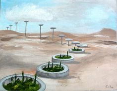 transformation, acrylic painting from www. Nature Paintings, Plants, Paintings Of Nature, Plant, Nature Drawing, Planets