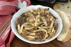 Crock Pot Beef & Noodles recipe from The Country Cook