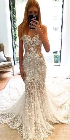 27 Mermaid Wedding Dresses You Admire trendy mermaid strapless sweetheart neck hand beaded lace bodice wedding dresses pallas couture See more: Wedding Dress Train, Sexy Wedding Dresses, Perfect Wedding Dress, Boho Wedding Dress, Bridal Dresses, Wedding Gowns, Mermaid Wedding, Wedding Bride, Wedding Venues