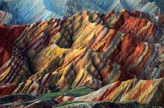 #12 Zhangye Danxia Landform Geological Park in China. The rainbow mountains.