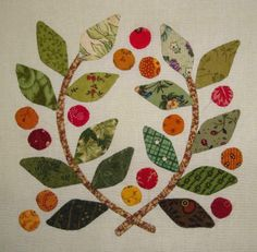 """FABRIC THERAPY: A """"little"""" hand applique...REALLY little..."""