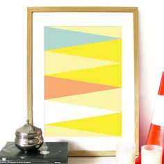 Triangle Pattern Poster Spring Collection by PeanutoakPrint, $23.00