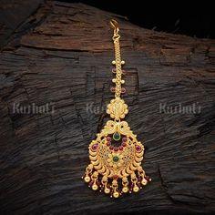 Temple Tikka 107458 Tikka Jewelry, Head Jewelry, Indian Jewelry, Jewelry Art, Fashion Jewelry, 1 Gram Gold Jewellery, Bridal Jewellery, Gold Pendant, Pendant Jewelry