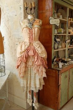 wish i lived in a time period where you wore corsetts and dresses like this!