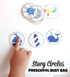 FREE Story Circles - would work well for Nativity story and Easter story