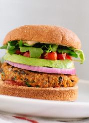 Sweet potato and black bean veggie burgers (vegan and gluten free) - cookieandkate.com