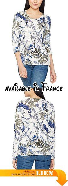 Gerry Weber Flower Print, T-Shirt Femme, Multicoloured (Ecru/White/Blue), 42.  #Apparel #SHIRT