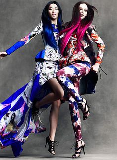 Color and Pattern, Flare Magazine, April 2012, Chris Nicholls, Photography and styled by Elizabeth Cabral
