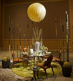 """Tabeau 2012 -final shot before the evening commences.  We won the """"Most Sophisticated"""" award that night!  Thanks to all who helped!  check out our website to see more setup shots.  #moderndesertdesign #ryanhouse #ifdatableau #marklapalm #heliumballoon #bertoiasoundsculpture"""