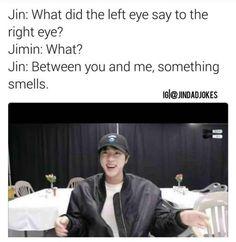 Billedresultat for bts jin dad jokes english Bts Memes Hilarious, Bts Funny Videos, Jin Dad Jokes, Hoseok, Seokjin, Namjoon, Rapmon, English Jokes, Pokerface
