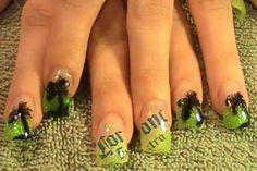 Corona nail art