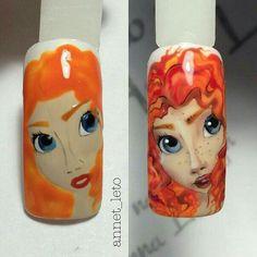 Cute Nail Art, Nail Art Diy, Beautiful Nail Art, Disney Princess Nails, Disney Nails, Sculpted Gel Nails, Nail Time, Painted Nail Art, Rose Gold Nails
