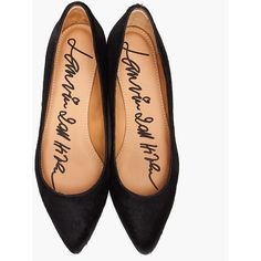 Lanvin Pointed Ballerine Flats. The perfect point on the perfect black.