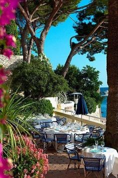 French Riviera town of Juan-les-Pins, France ~ by Barbara.Ziegler