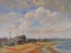Original Oil Painting Australian Impressionist Artist Enoch Hlisic EDITHVALE | eBay