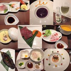 明けで香川〜(°▽°) 美味しいご飯とお風呂でゆっくり(´∀`) 写真撮ってないけど爽やかメンズが持ってきてくれる朝ごはんの焼きたてデニッシュが美味しかった ฅ՞•ﻌ•՞ฅ #瀬戸内荘 #せとうちそう #ばんごはん #dinner #美味しい #美味 #肉 #魚 #food #foodstagram #香川 #kagawa #坂出 #sakaide #日本 #japan #旅行 #trip