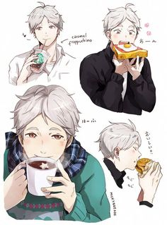 "milkybreads: "" Just suga eating yummy food and being happy~ (´;ω;`) """