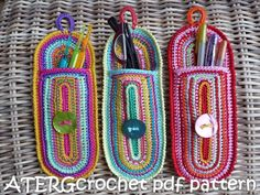 Crochet pattern case by ATERGcrochet. €2.75, via Etsy.