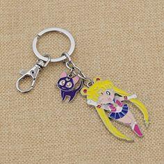 Amazon.com: Alloy Anime Sailor Moon Figure Keyring Cute Pendants Single Side Image Keychain 1 Pc: Clothing