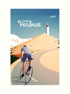 Mont Ventoux, a classic and excruciating climb that's deceptively beautiful. Tour de France cycling poster for Super Chéz Bro Gig Poster, Bike Illustration, Plakat Design, Ville France, Bicycle Art, Bicycle Decor, Bicycle Maintenance, Cycling Art, Road Cycling