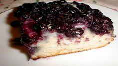 Черничный перевернутый пирог