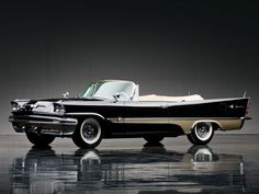 DeSoto Adventurer Convertible 1957 The DeSoto Adventurer is an automobile produced by the Chrysler Corporation and sold under its DeSot. Vintage Cars, Antique Cars, Mustang, Convertible, Muscle Cars, Dodge, Hot Rides, Us Cars, Car Car