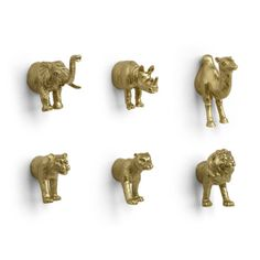 Golden Animal Magnets