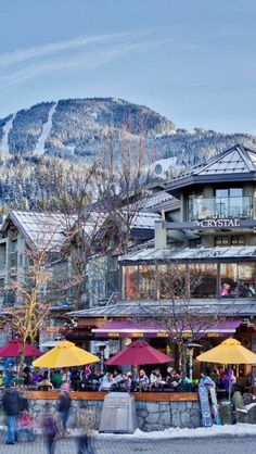 Whistler Village British Columbia Canada