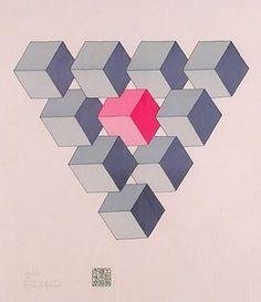 Oscar Reutersvärd (1915 – 2002) was een Zweeds beeldend kunstenaar, een pionier op het gebied van onmogelijke figuren, zoals de Penrose-driehoek (1934)  en  de onmogelijke trap van Penrose  Hier de onmogelijke trangel.