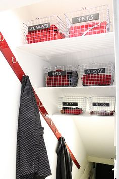 Basement Stairwell Turned Coat closet
