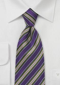 Krawatte gestreift purpur