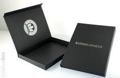 Embalagem Eurobusiness - Com personalização em serigrafia.  #Criativebox  #Embalagem  #Caixapersonlizada #Eurobusiness