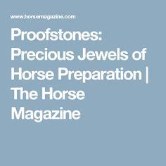 Proofstones: Precious Jewels of Horse Preparation | The Horse Magazine